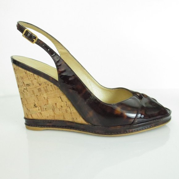 STUART WEITZMAN Wedge Shoes Patent Leather